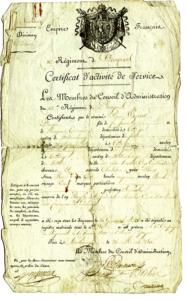 Das Dokument das beweist, daß Pierre Wagener sich im Januar 1810 in Spanien befindet.