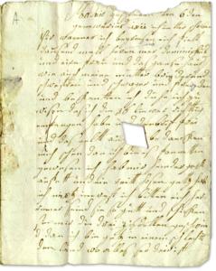 Letzter Brief Wageners aus Madrid, geschrieben im November 1811.
